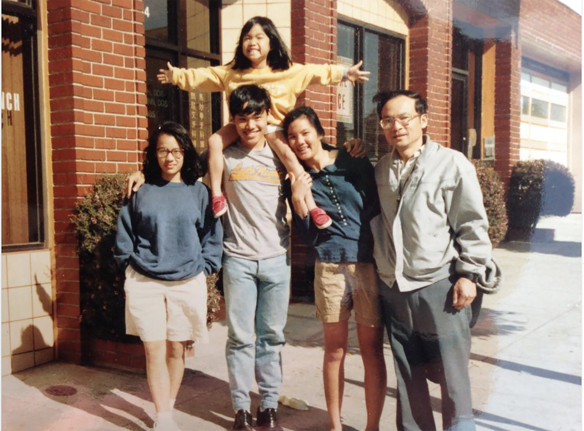 Ali Wong and family