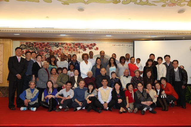 Paula Madison with her extended family in China