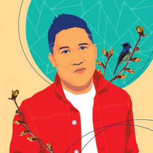 Illustration of Dante Basco by Andre Sibayan