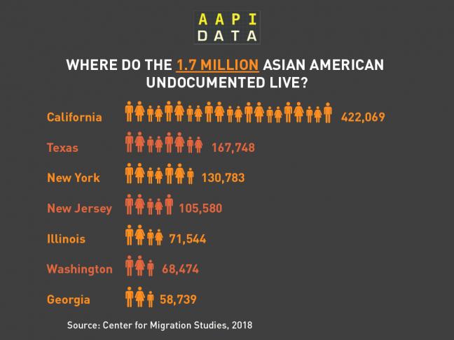 AAPI Data Undocumented infographic