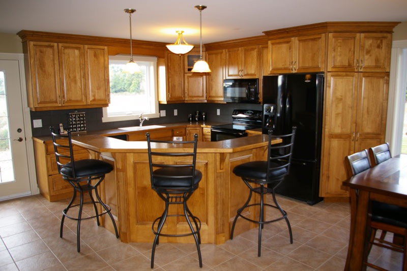 Our work the cabinet mill for Bleached maple kitchen cabinets