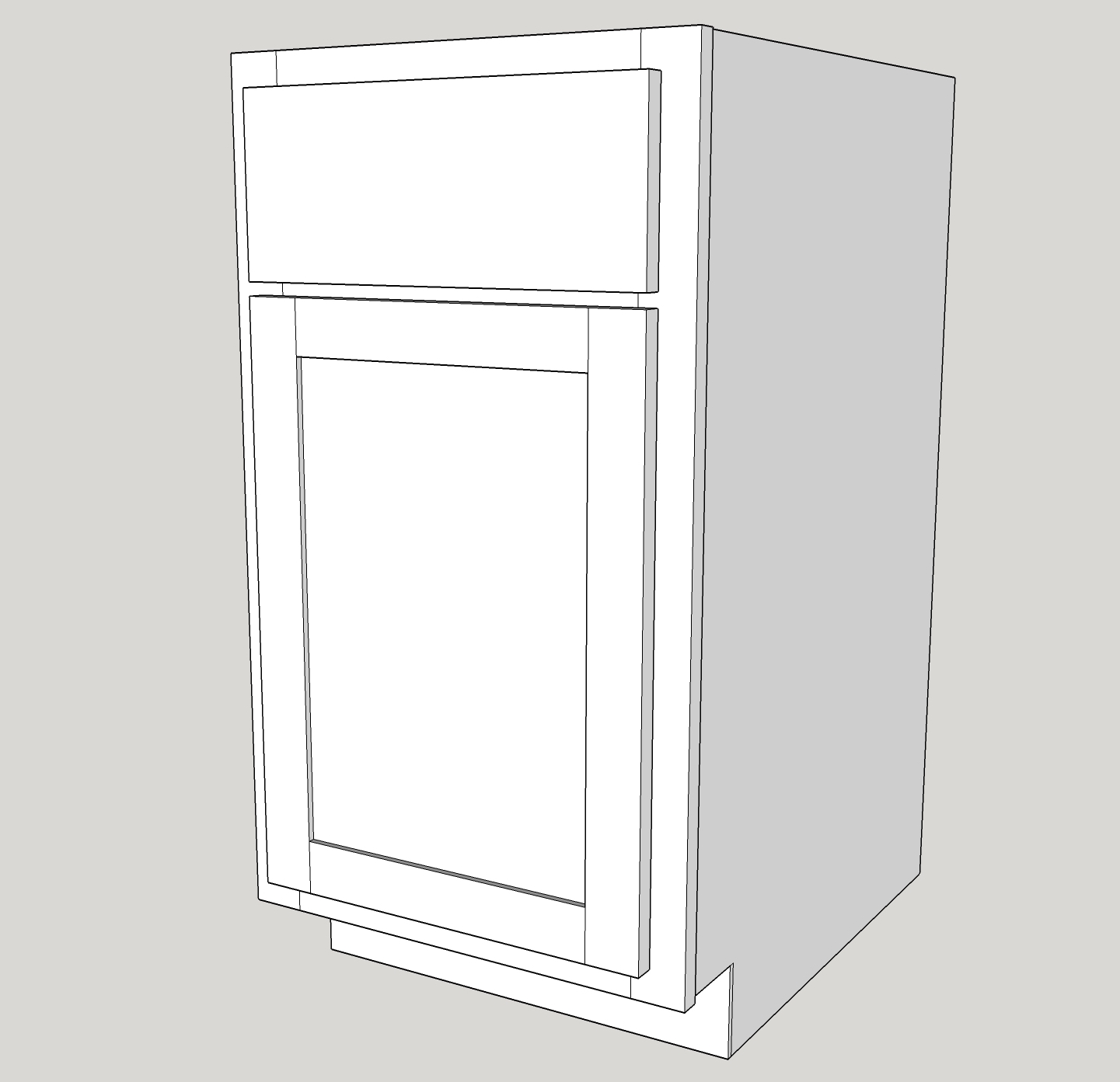 Base Cabinet: Single Drawer With Single Door