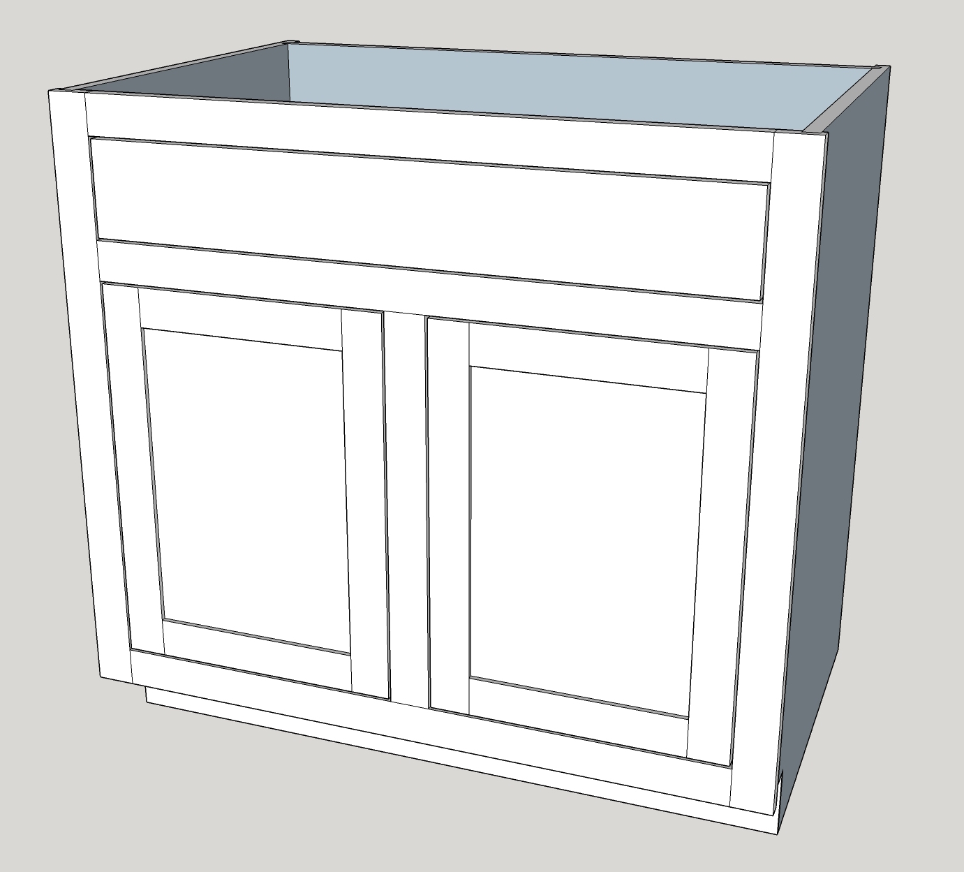 Base Cabinet: Single Drawer With Double Doors