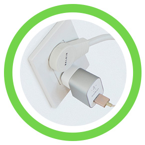 Belkin 6-Outlet Commercial Surge Protector with Rotating Plug - Rotating Plug Detail Image