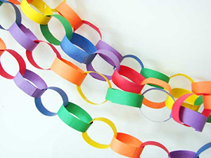 Paper chains (Creative Commons: Abbey Hendrickson)