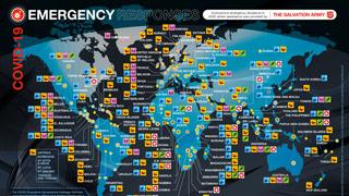 Emergency responses map