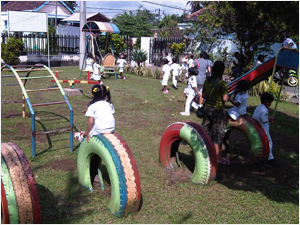 A playground at a Salvation Army school