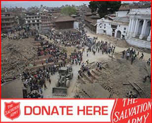 Donate to The Salvation Army's Nepal Earthquake Appeal