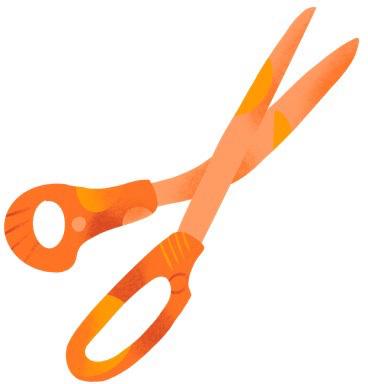 Editing scissors