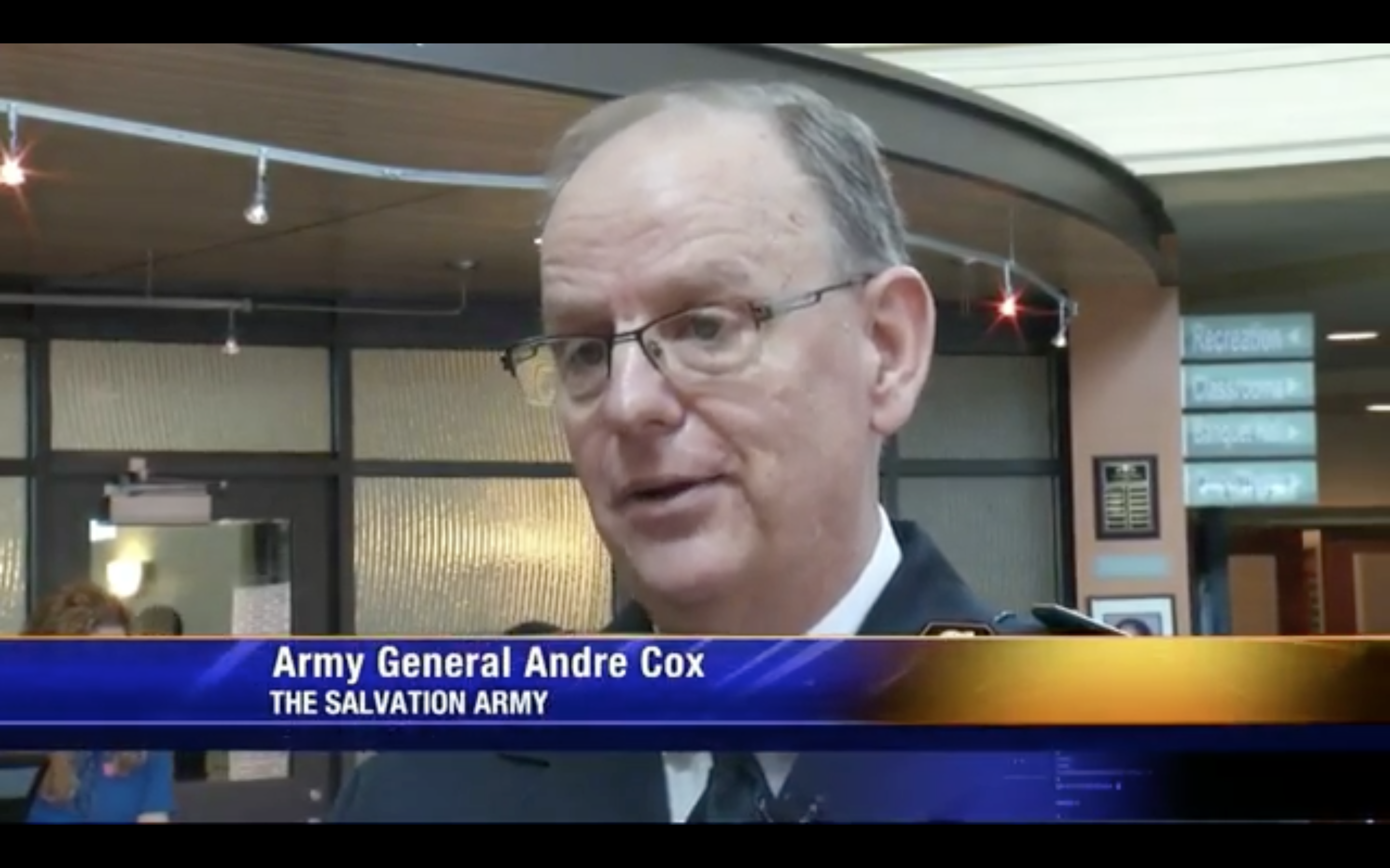 General Cox takes part in WJBF news broadcast