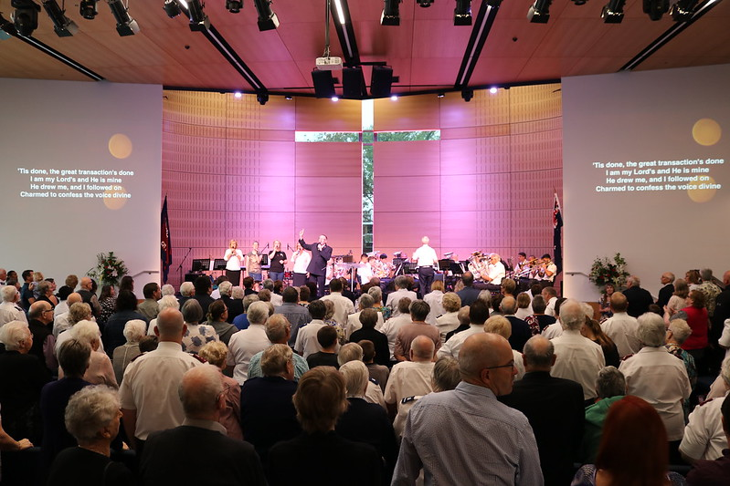 Worship at a Salvation Army centre in New Zealand