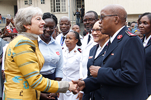 PM Theresa May meets Salvation Army Nigeria leader