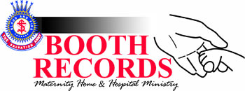 Booth records - maternity home and hospital ministry