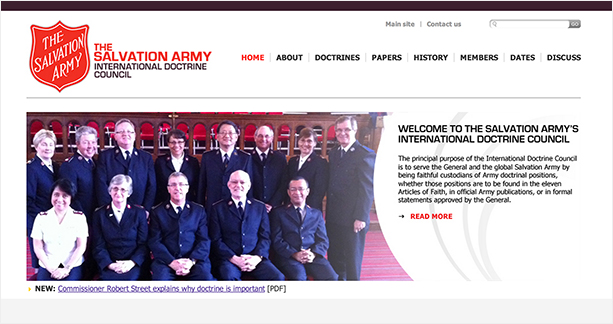 Screen grab - International Doctrine Council website