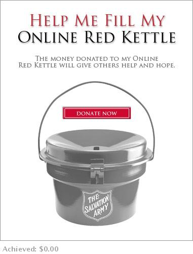 Personal fundraising widget for 2008 Red Kettle campaign