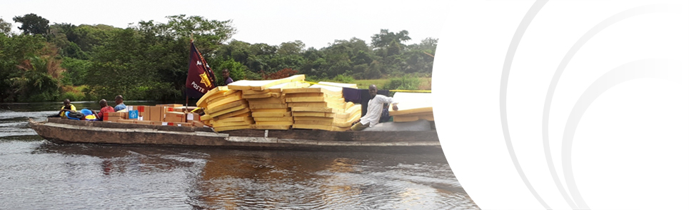 Salvation Army supply boat in Congo