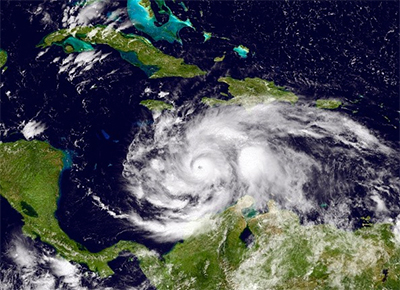 Hurricane Matthew (courtesy: NASA)