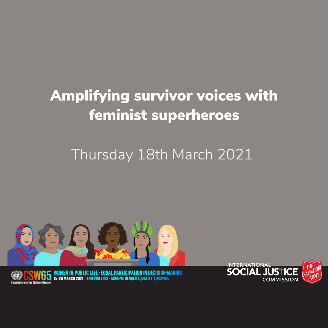 AMPLIFYING SURVIVOR VOICES WITH FEMINIST SUPERHEROES
