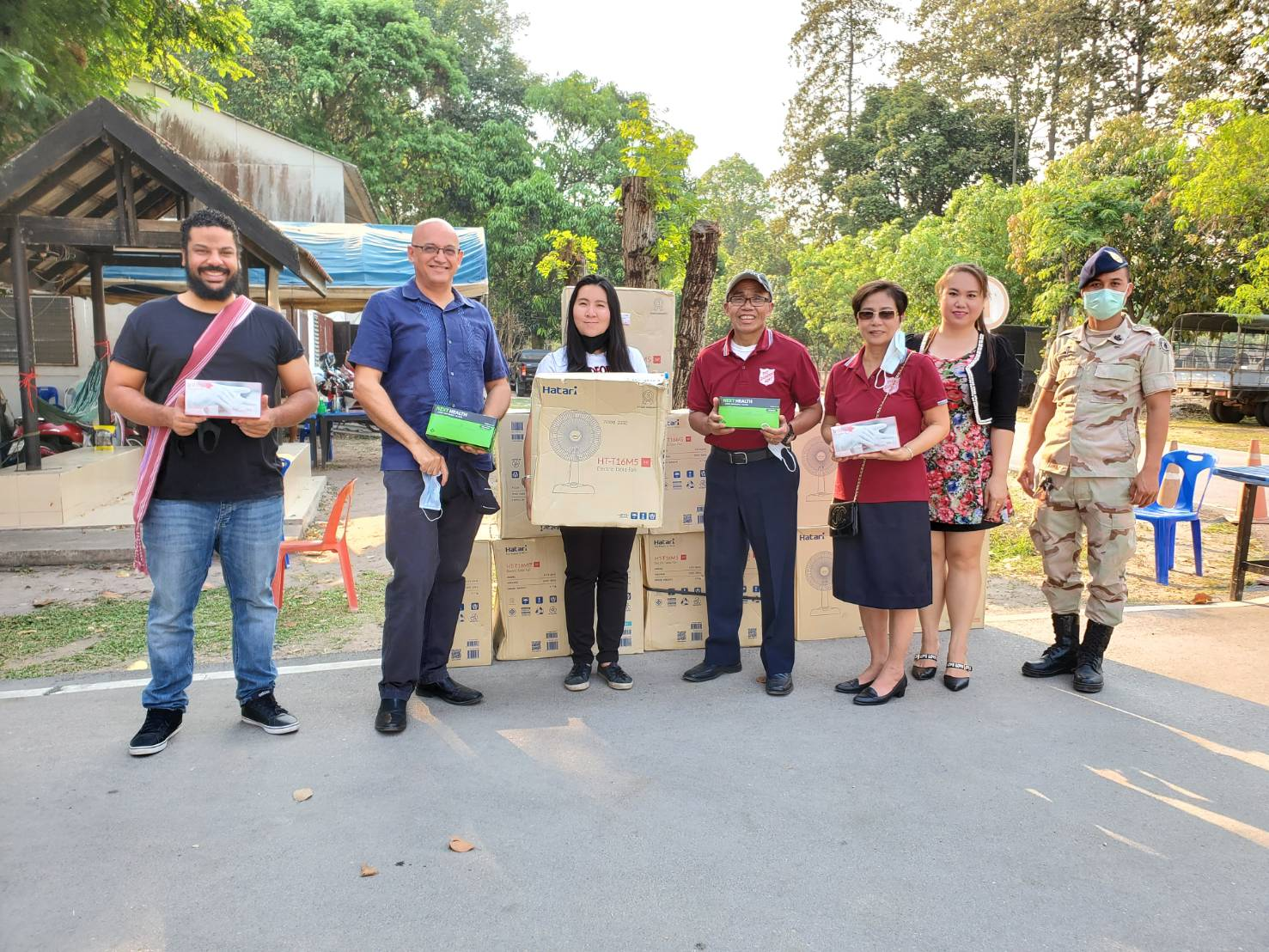 Salvation Army personnel in Chiang Mai, working with the Royal Thai Army