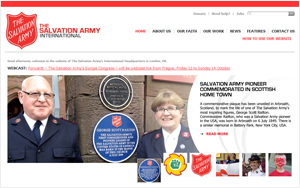 Salvation Army international home page