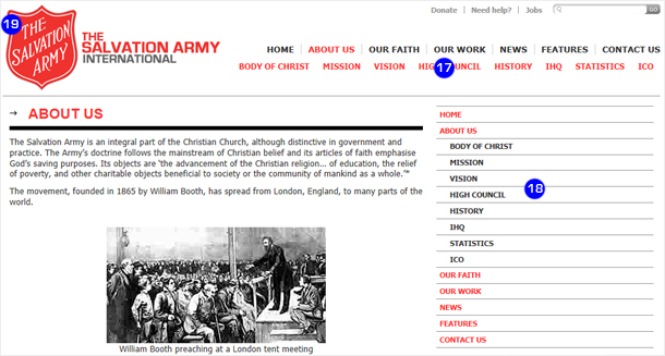 the salvation army international how to use the salvation army website