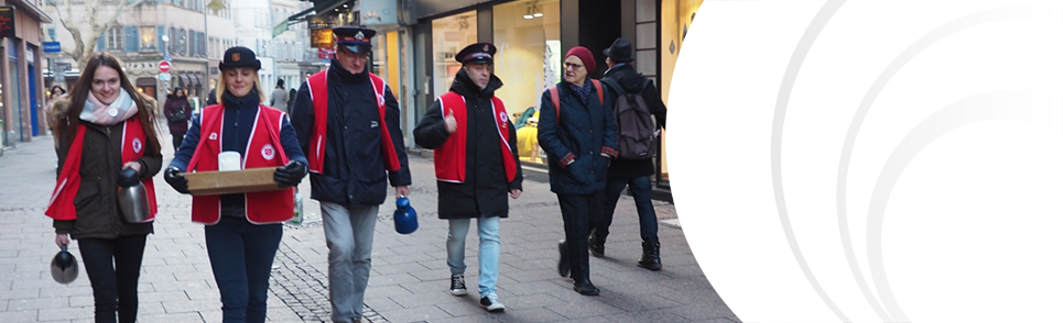 Salvationists on the streets of Strasbourg
