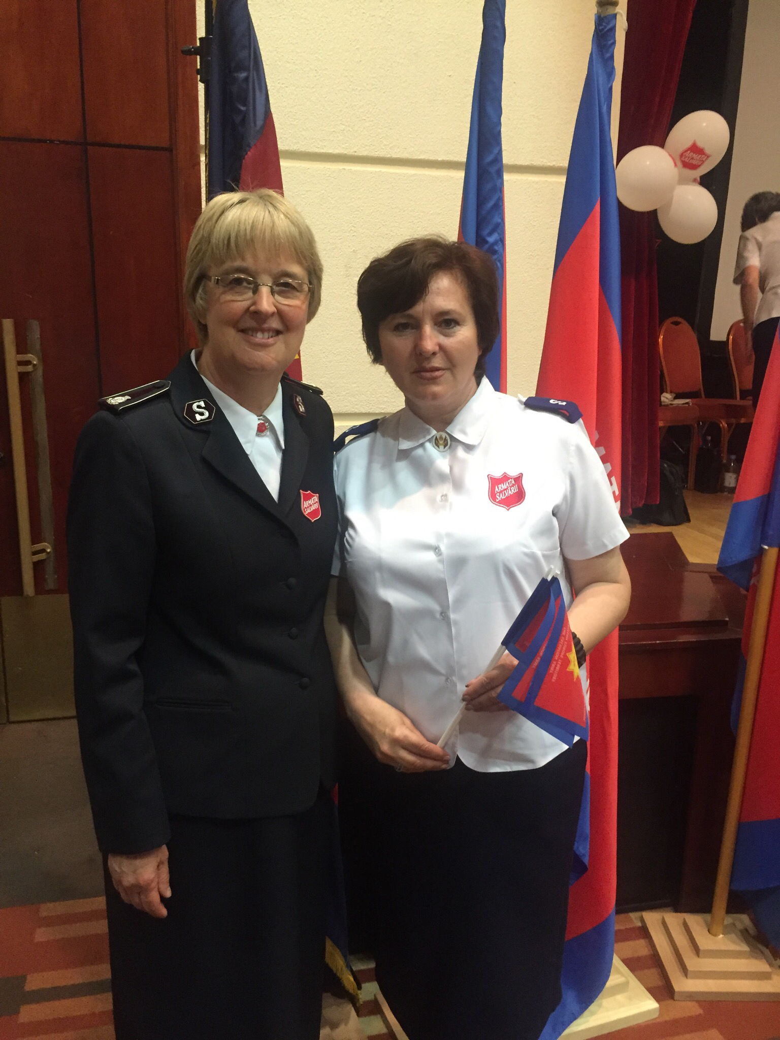 Commissioner Silvia with Romanian woman