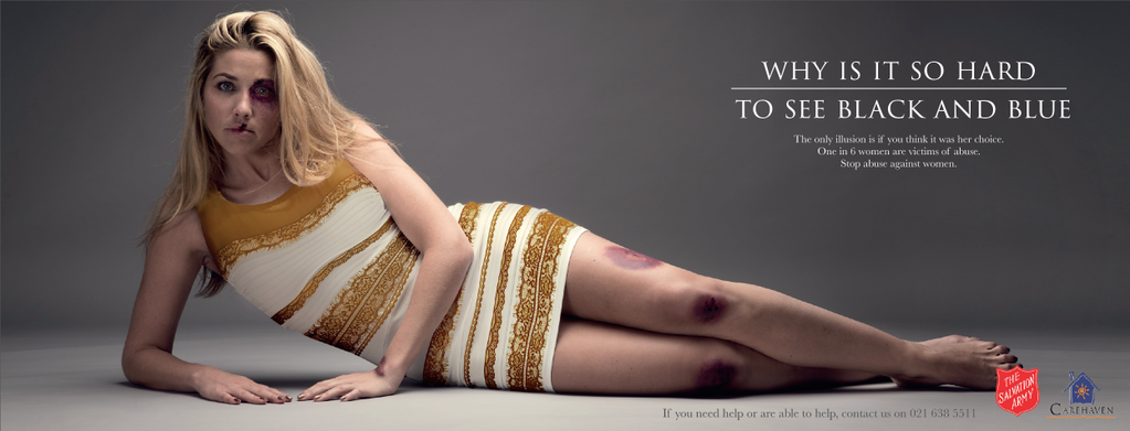 Why is it so hard to see black and blue? #thedress-inspired advertising campaign for The Salvation Army in South Africa (courtesy Ireland Davenport)