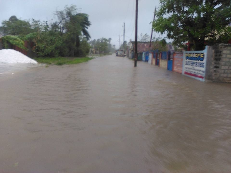 Flooding outside VB corps, Haiti