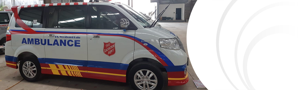 Salvation Army ambulance