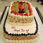 150 days to go cake