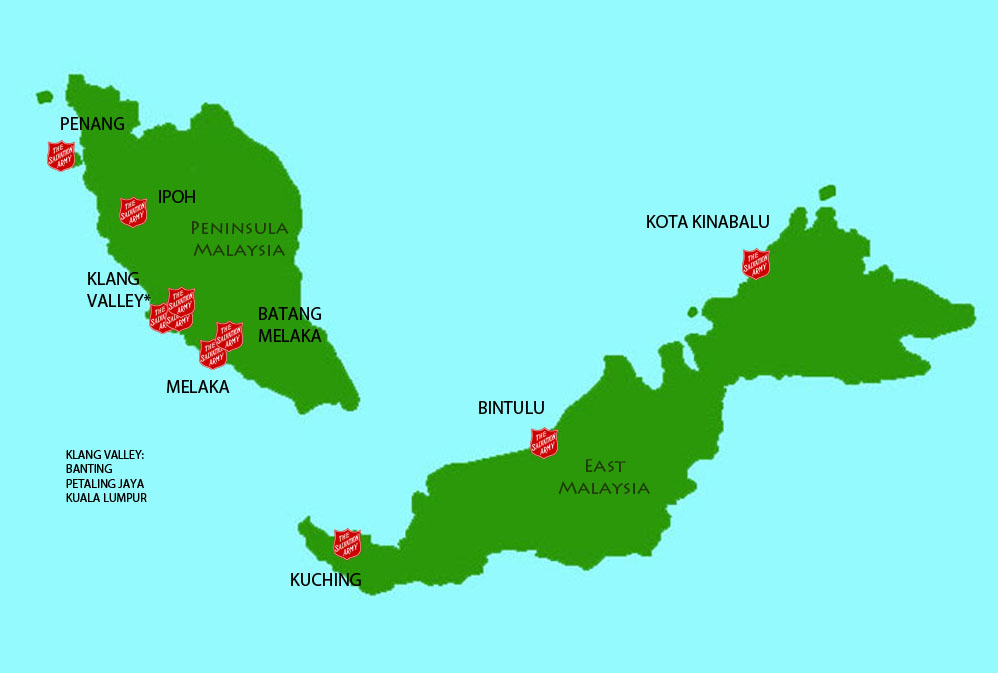 Salvation Army Malaysia Map of our Services