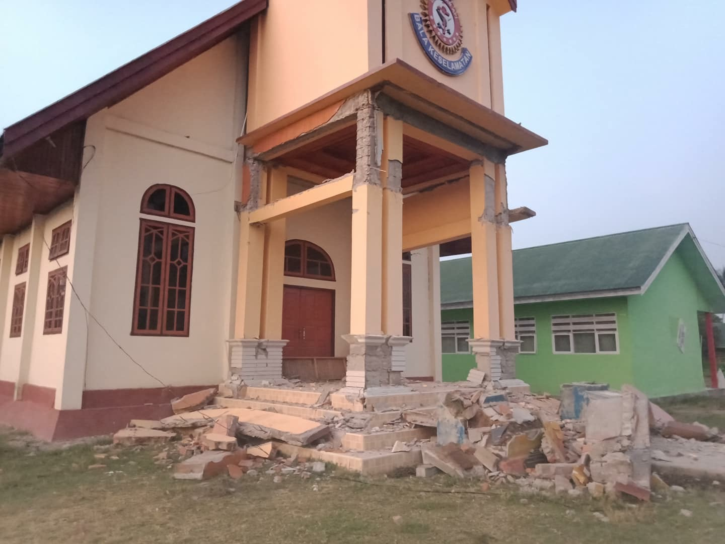 Salvation Army corps building in Palu