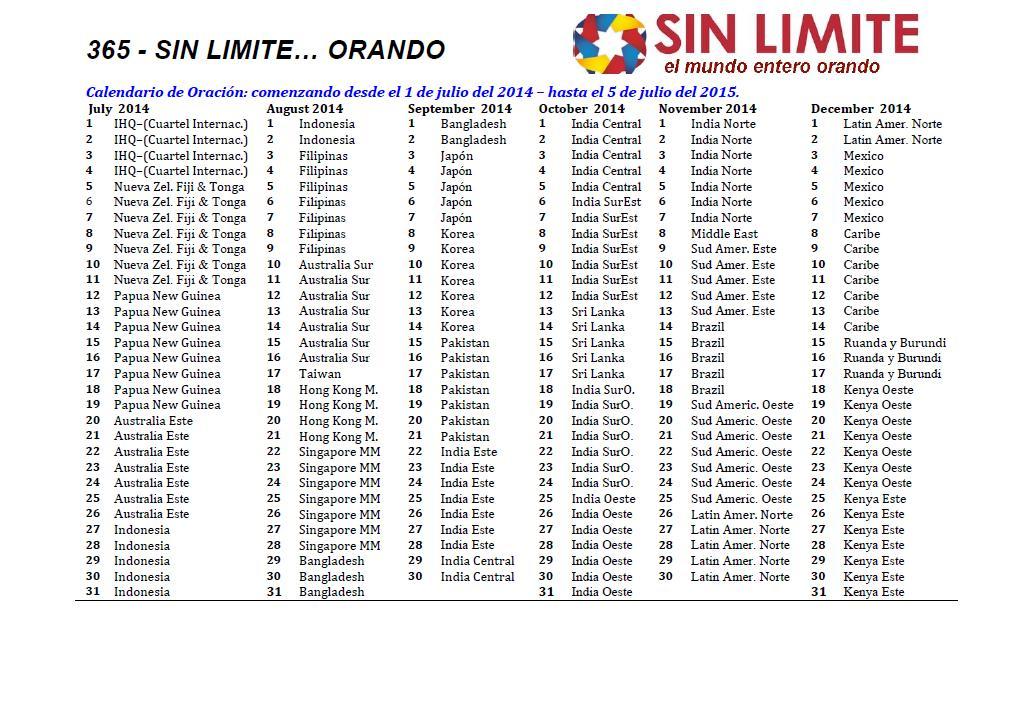 Calendario 365.Ejercito De Salvacion Territorio Oeste De Sudamerica Orando