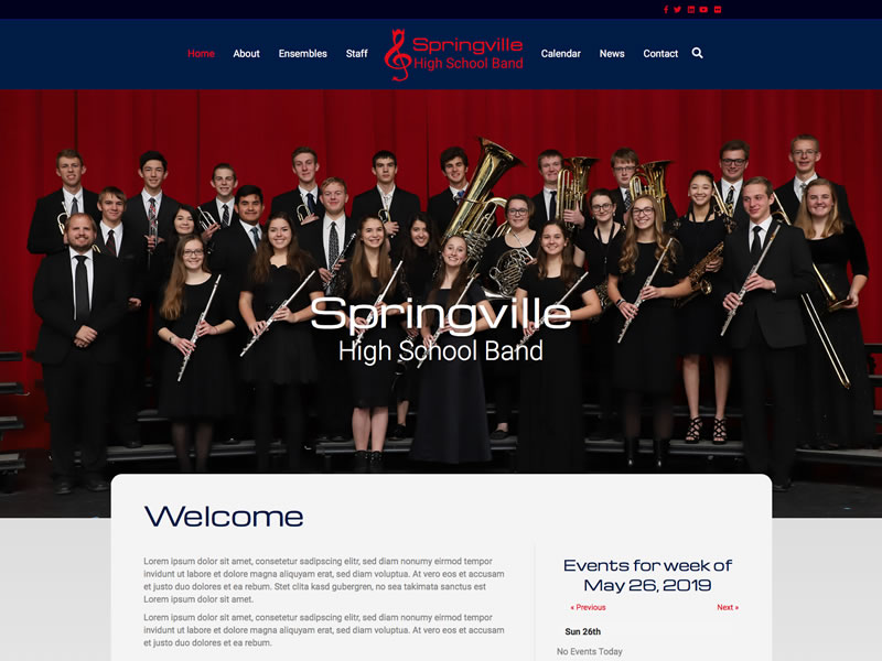Springville High School Band<br />Coming soon!