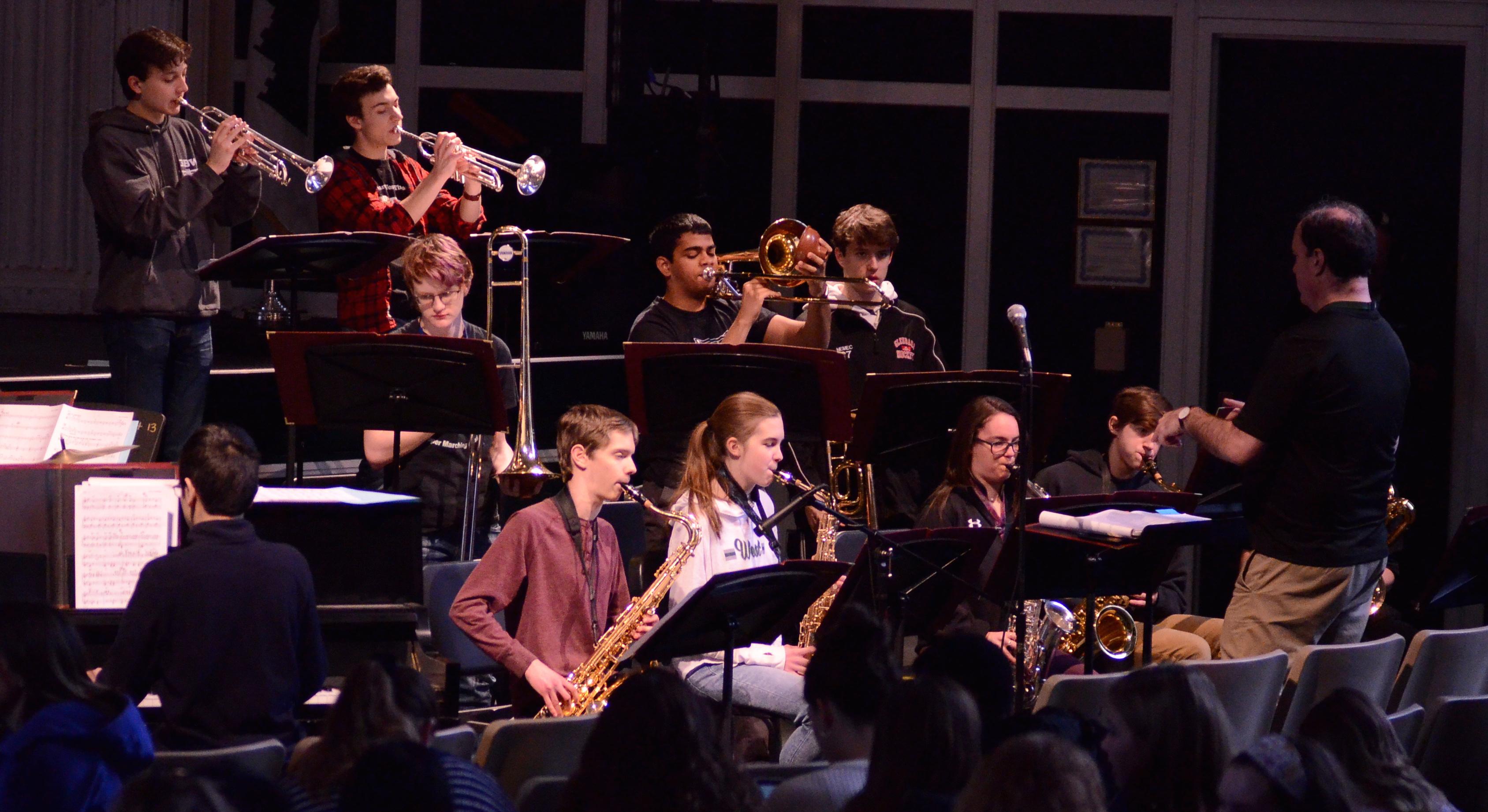 Glenbard West Jazz Band at the 2019 Performing Arts Convo.