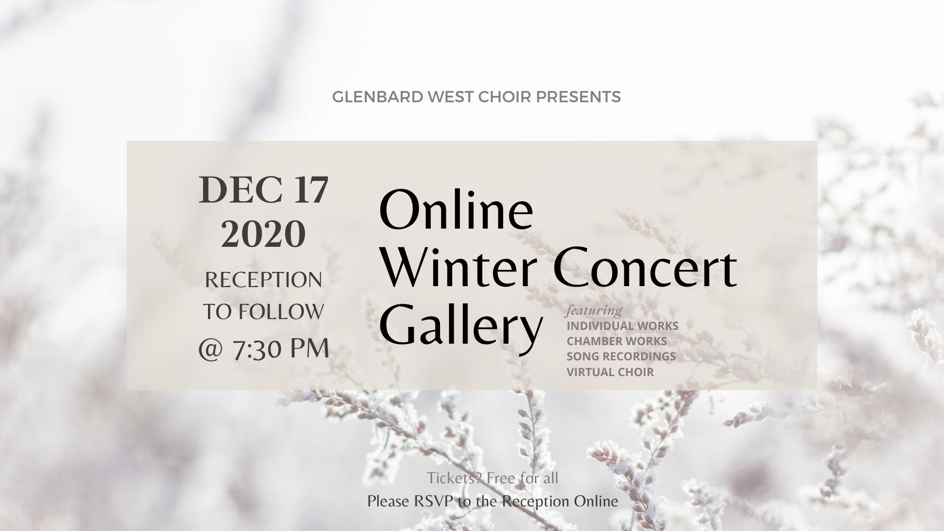 online winter concert gallery