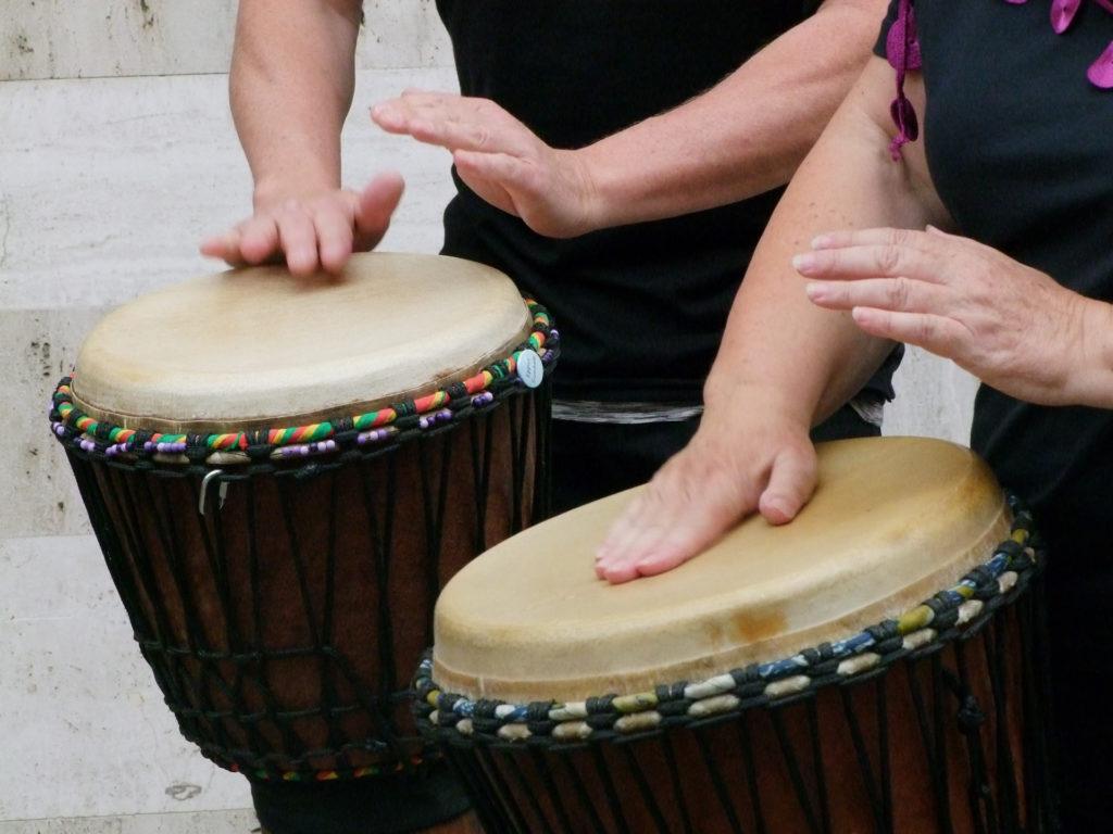 hand-drumming