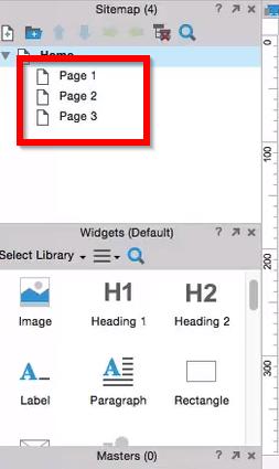 área de trabalho com páginas