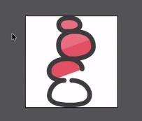 ícone na cor vermelha