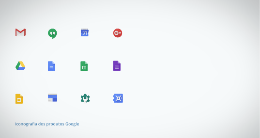 mostrando a iconografia do Google