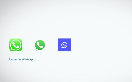 mostrando a diferença entre ícones do whatsapp
