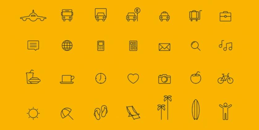 icones usado no site