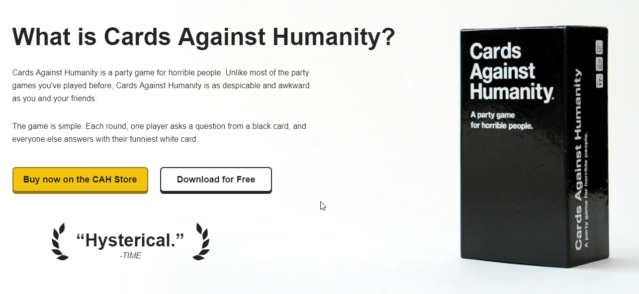 site de cards agains the humanity