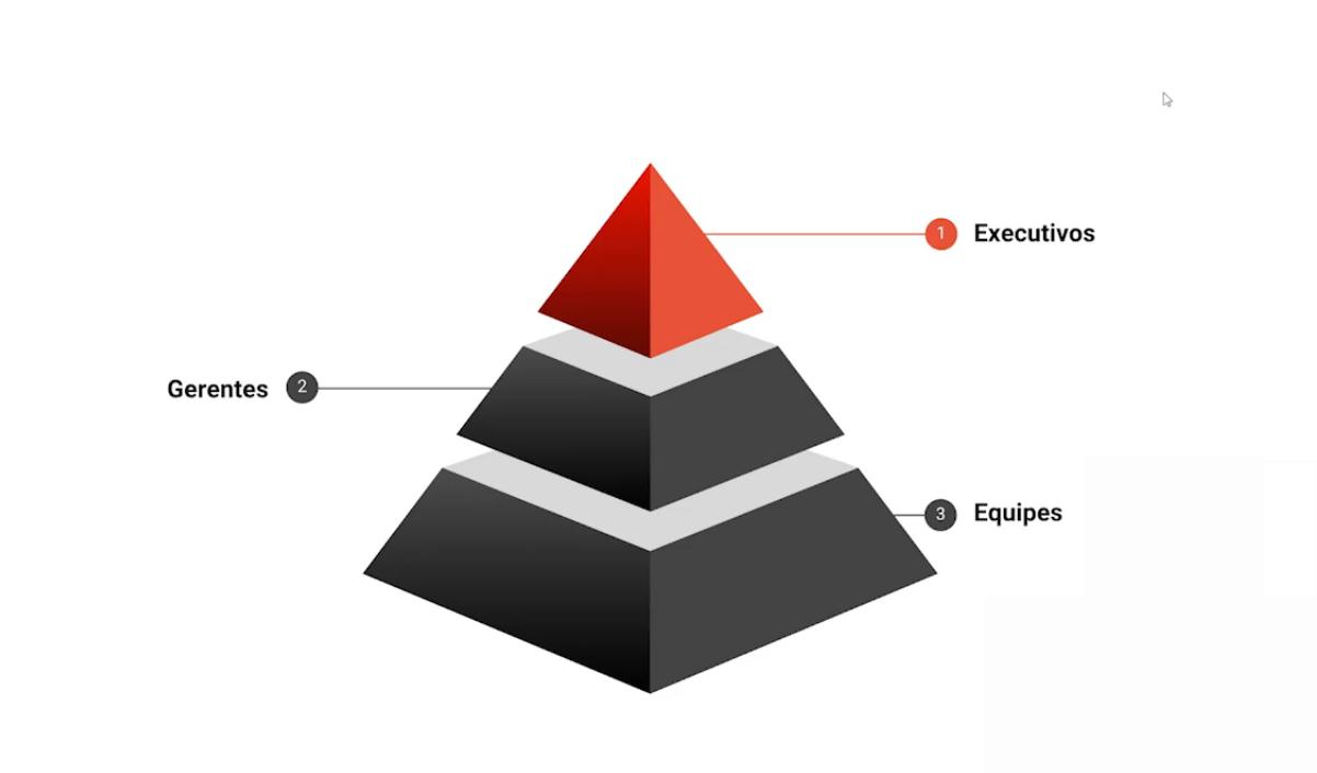 Gráfico da Visão Piramidal Clássica