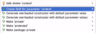 create field for parameter context