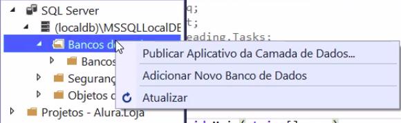 adicionando novo banco de dados