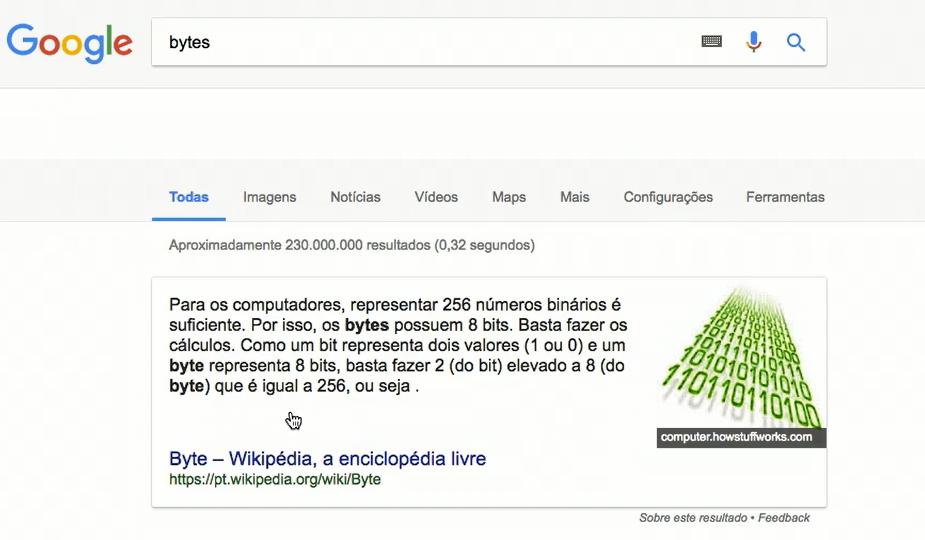 bytes no google