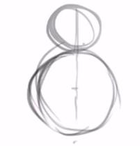 esboço inicial com apenas dois círculos criados, um maior como base e em cima outro menor com metade do raio