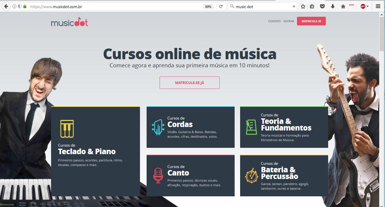 musicDot home